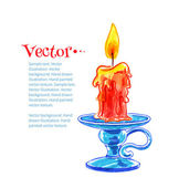 Burning candle. — Stock Vector