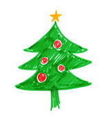 Childlike drawing of Christmas tree. — Stock Photo