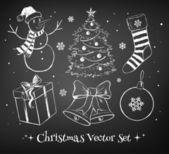 Christmas set. — Stock Vector