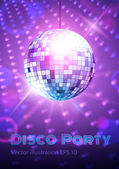 Disco ball — Vector de stock