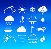 Weather icons set. — Stock Vector