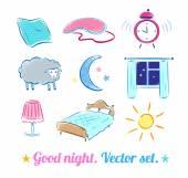 Good Night set. — Vecteur
