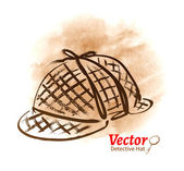 Detective hat sketch — Stock Vector