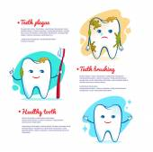Teeth brushing concept. — Stock vektor