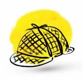 Vintage Detective hat — Stock Vector