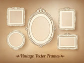 Vintage baroque frames set — Vector de stock