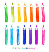 Colorful set of pencils — Stock Vector