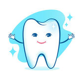 Healthy happy tooth character. — Vetor de Stock