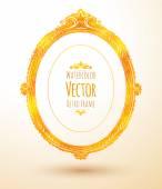 Oval vintage frame.  — Stock Vector