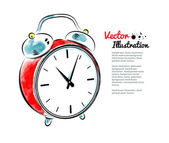 Watercolor Alarm clock — Stock Vector