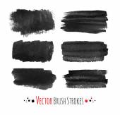 Hand drawn brush strokes. — Stock Vector