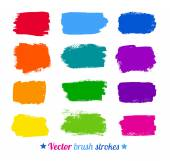 Colorful brush strokes. — Stock Vector