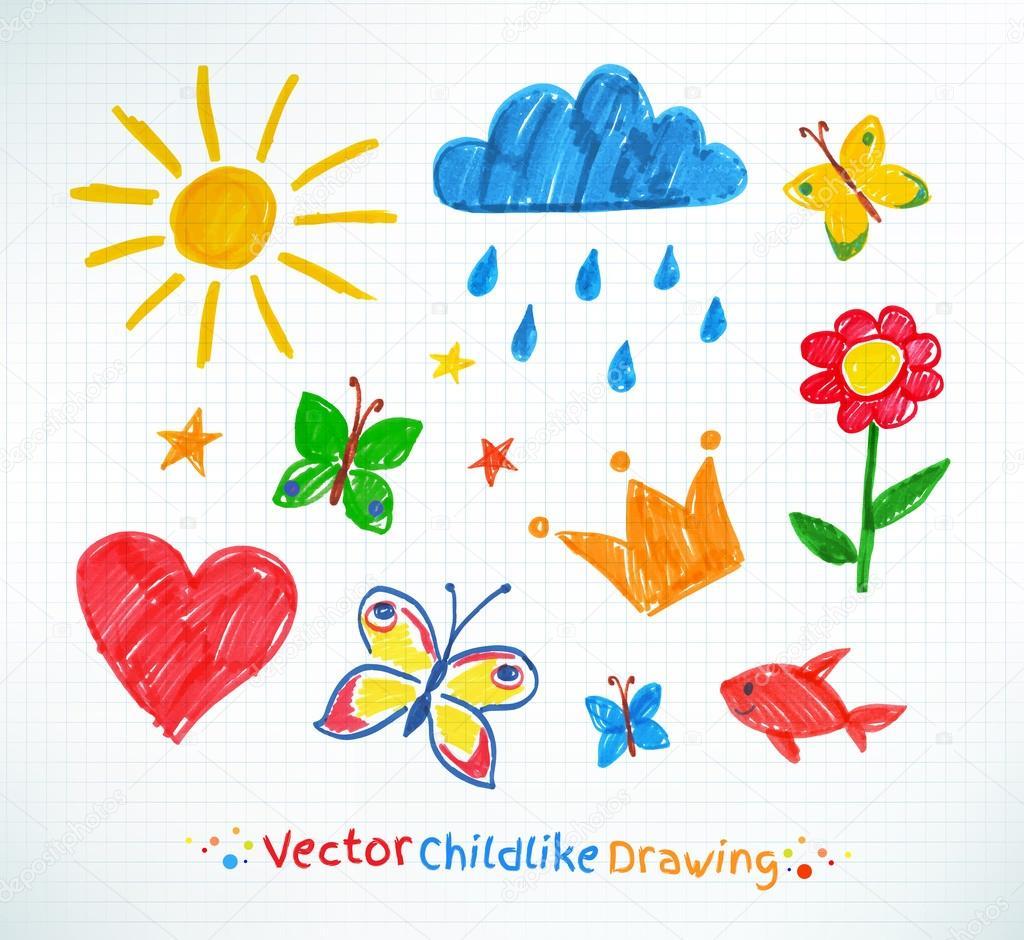 Детские рисунки фломастером