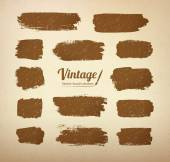 Vintage brush strokes — Stock Vector