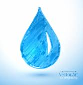 Child drawing of water drop — Stock Vector