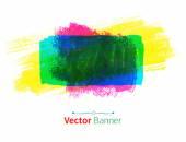 Multicolored watercolor banner — Stock Vector