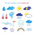 Drawings of weather symbols. — Stock Vector #72344797