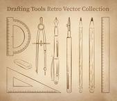 Drafting tools set — Stock Vector