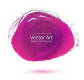 Purple hand drawn stain — Stock Vector