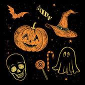 Halloween čmáranice kolekce. — Stock fotografie