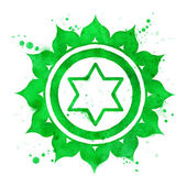 Anahata chakra symbol. — Stock Photo