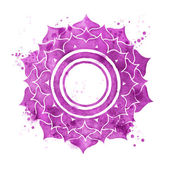 Sahasrara chakra symbol — Stock Photo