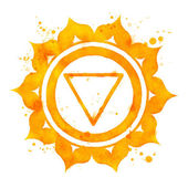 Manipura chakra symbol. — Stock Photo