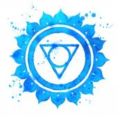 Vishuddha chakra symbol. — Stock Photo