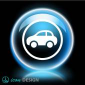 Pictograph of car — Stock Vector