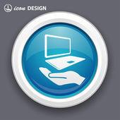 Laptop icon — Vector de stock