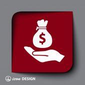 Money icon — Stock Vector