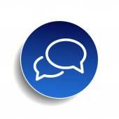 Ícone de mensagem ou de bate-papo — Vetor de Stock