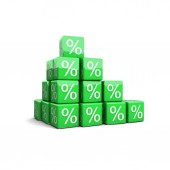 Growth of percents concept — Stock Photo
