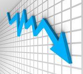 Busines crisis arrow — Stock Photo