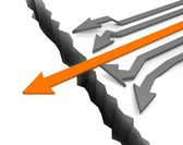 Arrows with leader — Stock Photo