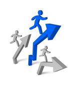 Aspiration to win of leader in competition. — Stock Photo