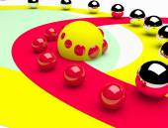 Artistic composition balls — Stock Photo