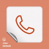 Pictograph of phone — Stock Vector