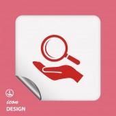 Icona di ricerca — Vettoriale Stock