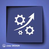 Механизм с символом стрелы роста — Cтоковый вектор