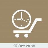 Icono de reloj — Vector de stock