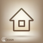 Ikona domu — Wektor stockowy