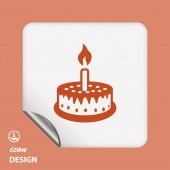 ícone de bolo — Vetor de Stock