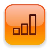 Business graph icon — Stock Vector