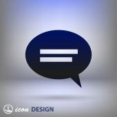 ícone de mensagem ou de bate-papo — Vetorial Stock