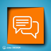 Message or chat icon — Stock Vector