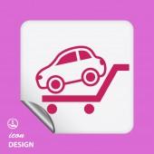 Icône de voiture — Vecteur