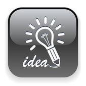 灯泡-想法图标 — 图库矢量图片