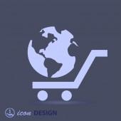 Wereldbol icoon — Stockvector