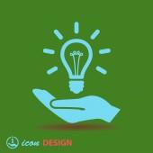 лампа в руках икону — Cтоковый вектор